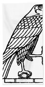 Egyptian Symbol: Falcon Beach Towel
