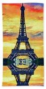 Eifel Tower In Paris Beach Towel