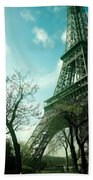 Eifell Tower View From Taxi II. Beach Towel