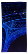Eiffel Blue Beach Towel