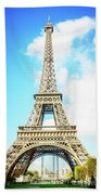 Eiffel Tower Portrait Beach Towel