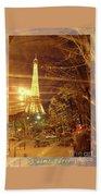 Eiffel Tower By Bus Tour Greeting Card Poster Beach Towel by Felipe Adan Lerma