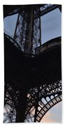 Eiffel Tower Corner Beach Towel