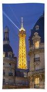Eiffel Tower From Passy Beach Towel by Brian Jannsen
