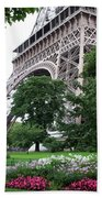Eiffel Tower Garden Beach Towel
