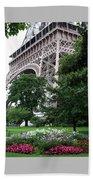 Eiffel Tower Garden Beach Towel