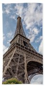 Eiffel Tower In Paris Beach Towel