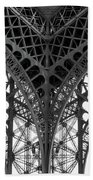 Eiffel Tower Leg Beach Towel