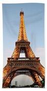 Eiffel Tower Lighted  Beach Towel
