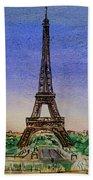 Eiffel Tower Paris France Beach Sheet