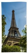 Eiffel Tower Through Trees Beach Towel