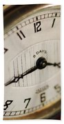 Eight Days A Week Clock Beach Towel
