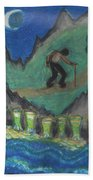 Eight Of Cups Illustrated Beach Towel