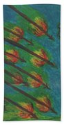 Eight Of Wands Illustrated Beach Towel