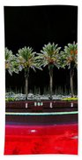 Eight Palms Drinking Wine Beach Towel by David Lee Thompson