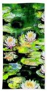 Eight #waterlilies Beach Towel