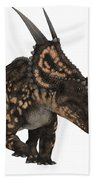 Einiosaurus On White Beach Towel