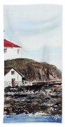 Eldred Rock Lighthouse Beach Towel