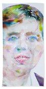 Eleanor Roosevelt - Watercolor Portrait Beach Towel
