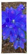 Electric Blue Flower Beach Towel