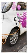 Electric Car Beach Towel