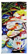 Electric Lillypads Beach Towel
