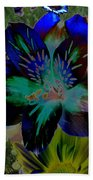 Electric Lily Beach Towel