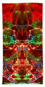 Electric Red Beach Towel
