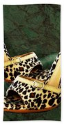Electric Slide In Leopard Beach Towel