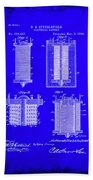 Electrical Battery Patent Drawing 1e Beach Towel