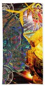 Electromagnetic Lighthouse Thirdeye Portal Beach Towel by Joseph Mosley