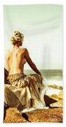 Elegant Classical Beauty  Beach Sheet