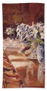 Elegant Dining At Hearst Castle Beach Towel