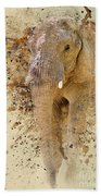 Elephant Color Splash Beach Towel