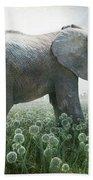 Elephant Eating Onions Beach Sheet