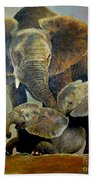 Elephant Familly Beach Towel