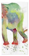 Elephant Family Watercolor  Beach Towel by Melly Terpening