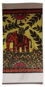 Elephant In The Jungle Beach Towel