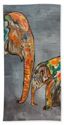 Elephant Play Day Beach Towel