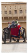 Elephant Ride 2 Beach Towel