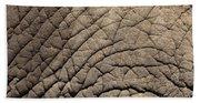 Elephant Skin Background Beach Towel