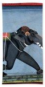 Elephant & Trainer, C1750 Beach Towel