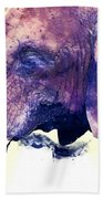 Elephant Watercolor Painting Beach Towel