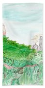 Elephoot And Friends In Satpura Mountains In India Beach Towel