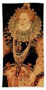 Elizabeth I Armada Portrait Beach Sheet