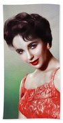 Elizabeth Taylor, Vintage Movie Star Beach Towel