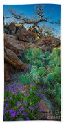 Elk Mountain Flowers Beach Towel by Inge Johnsson