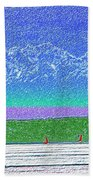 Elliott Bay Sail Beach Towel