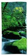 Elowah Falls 3 Columbia River Gorge National Scenic Area Oregon Beach Towel