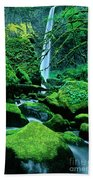 Elowah Falls 4 Columbia River Gorge National Scenic Area Oregon Beach Towel